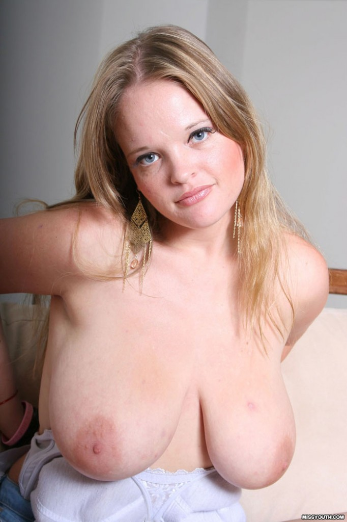 Big Natural Blond Teen Tits